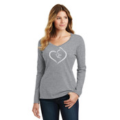 Cat Heart Ladies Long Sleeve T-shirt