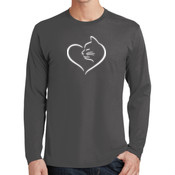 Cat Heart Adult Long Sleeve T-shirt