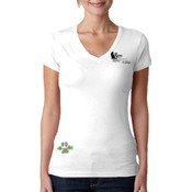 Ladies V-neck Cotton T-shirt