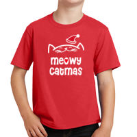 Meowy Catmas Youth T-shirt Thumbnail